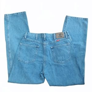 WRANGLERS Straight Leg 34x32 Blue Denim Jeans